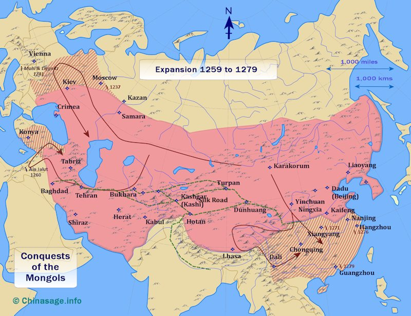 The Mongol Empire   Mongol Conquest Land